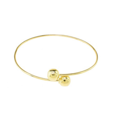 Sechic Womens 14K Gold Bangle Bracelet