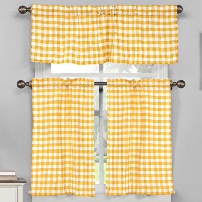 Duck River Kingston 3-Piece Kitchen Curtain Set