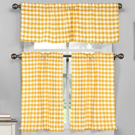 Duck River Kingston 3 Piece Kitchen Curtain Set Jcpenney