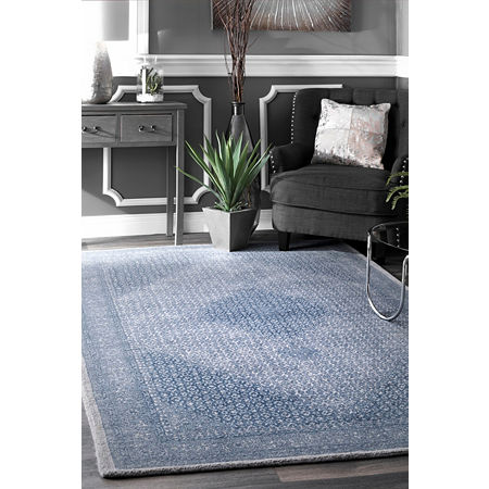 nuLoom Vintage Reese Wool Hand Tufted Area Rug, One Size , Blue