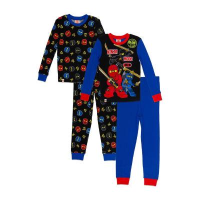 Lego Ninjago Boys Fall 18 Sleepwear 4-pc. Lego Pajama Set Boys