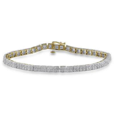 10K Gold 7.25 Inch Box Link Bracelet