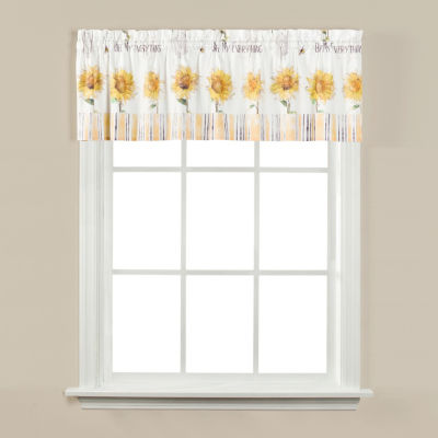 Saturday Knight Bee & Bee Rod-Pocket Tailored Valance