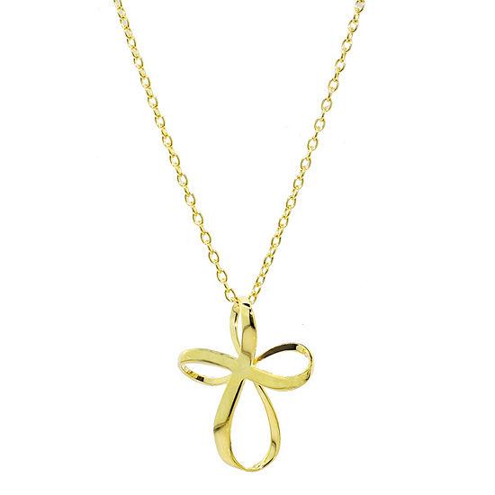 Sechic Womens 14K Gold Cross Pendant Necklace