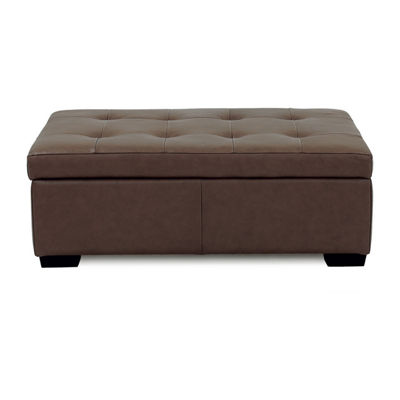 Possibilities Leather Ottoman