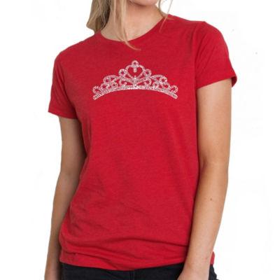 Los Angeles Pop Art Women's Premium Blend Word ArtT-shirt - Princess Tiara