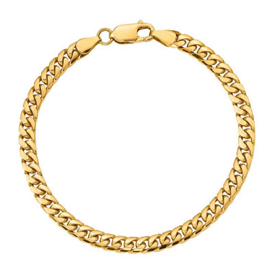 14K Gold 7 Inch Solid Curb Chain Bracelet
