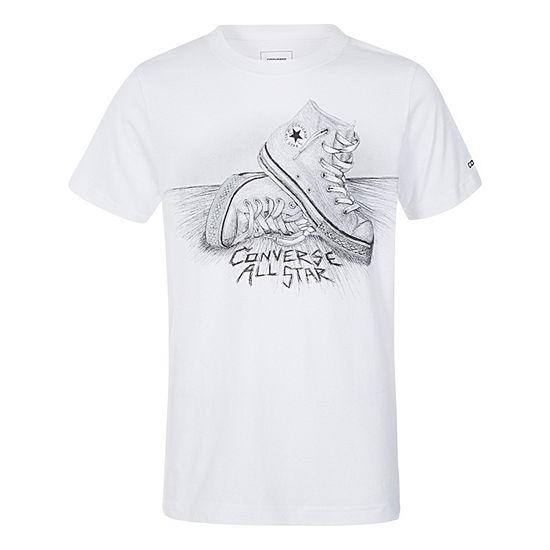 Converse Boys Crew Neck Short Sleeve Graphic T Shirt Preschool Big Kid