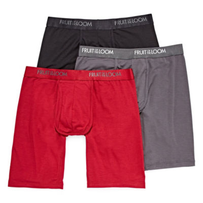 Fruit of the Loom 3-pk Luxe Modal Long Leg Boxer Briefs