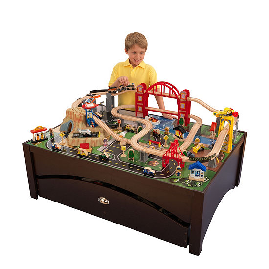 KidKraft Metropolis Train Set & Table