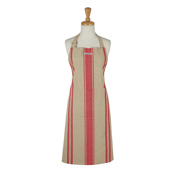 Red French Stripe Chef Apron