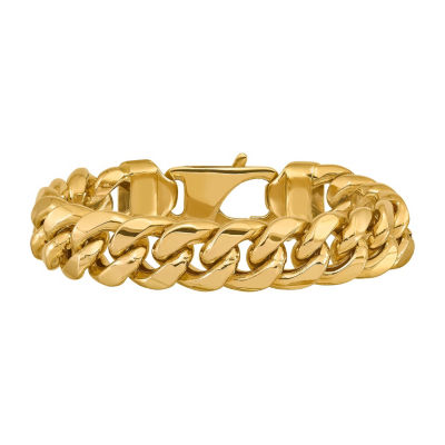 14K Gold 8 Inch Semisolid Curb Chain Bracelet