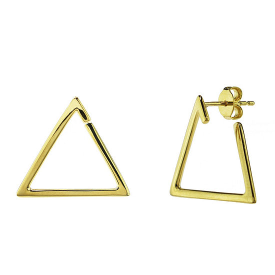 Sechic 14K Gold Triangle Ear Pins