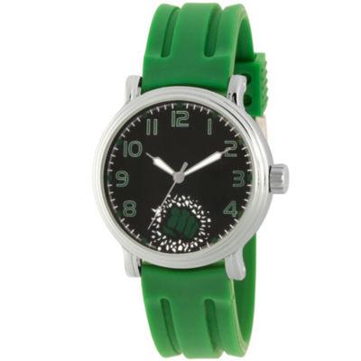 Avengers Mens Green Strap Watch-Wma000270