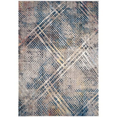 Safavieh Monray Collection Lucetta Geometric RoundArea Rug