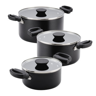 Farberware 6-Pc. Saucepot Set 6-pc. Aluminum Dishwasher Safe Non-Stick Cookware Set