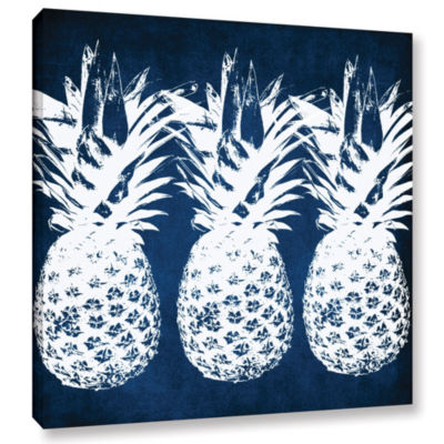 Indigo Pineapple Gallery Wrapped Canvas