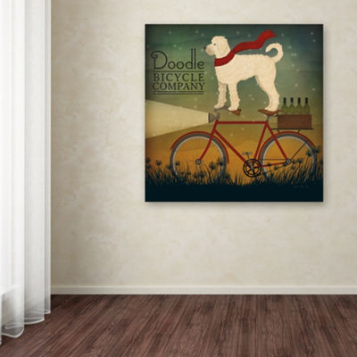 Trademark Fine Art Ryan Fowler White Doodle on Bike Summer Giclee Canvas Art