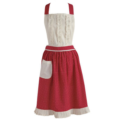 Red Polka Dot Vintage Apron