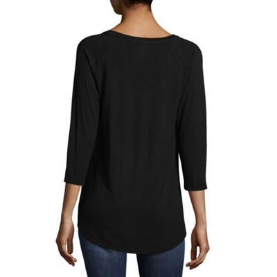 a.n.a. 3/4 Sleeve Scoop Neck T-Shirt