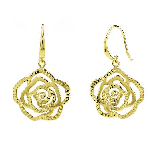 Sechic 14K Gold Flower Drop Earrings