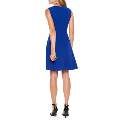 Alyx Sleeveless Cage Neck Fit & Flare Dress