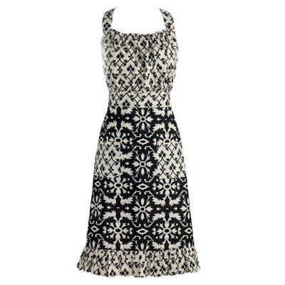 Black And White Mixed Print Vintage Apron