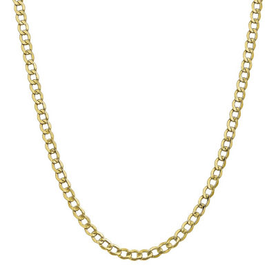 10K Gold Curb Chain Necklace