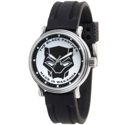 Black Panther Mens Black Strap Watch-Wma000271