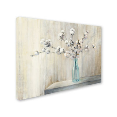 Trademark Fine Art Julia Purinton Cotton Bouquet Giclee Canvas Art
