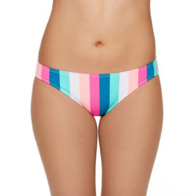 Arizona Striped Hipster Swimsuit Bottom-Juniors