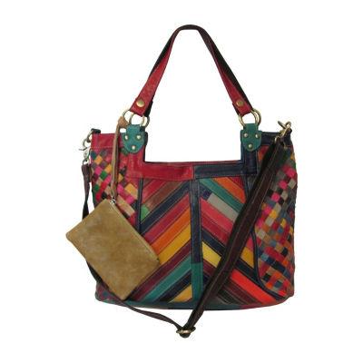 Amerileather Hazelle Leather Handbag/Shoulder Bag