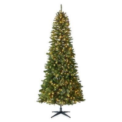 North Pole Trading Co. 9 Foot Andover Pre-Lit Multi-Function Lights Christmas Tree