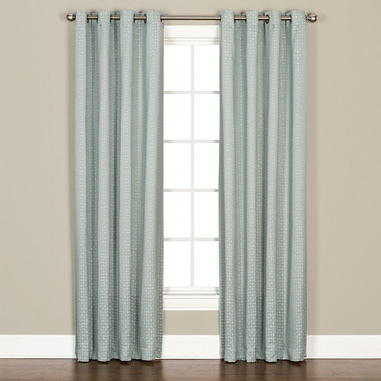 Sacai Light-Filtering Grommet-Top Curtain Panel