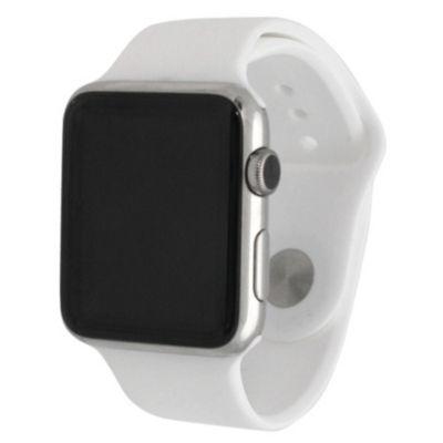 Olivia Pratt Compatible With Apple Watch Unisex White Watch Band-8812white38