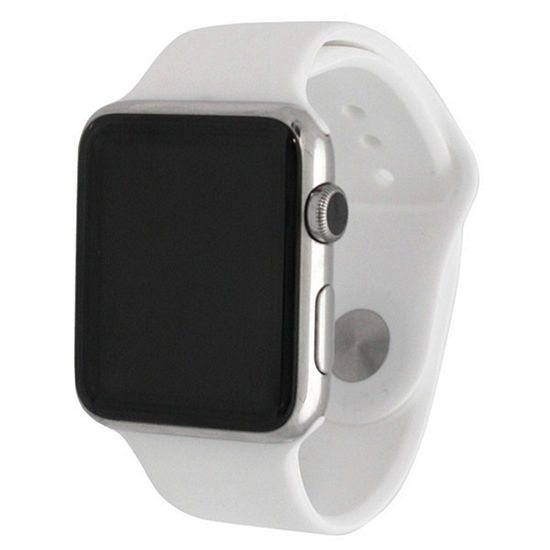 Olivia Pratt Compatible With Apple Watch Womens White Watch Band-8812white38