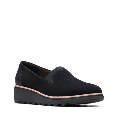 Clarks Womens Sharon Dolly Slip-On Shoe Closed Toe