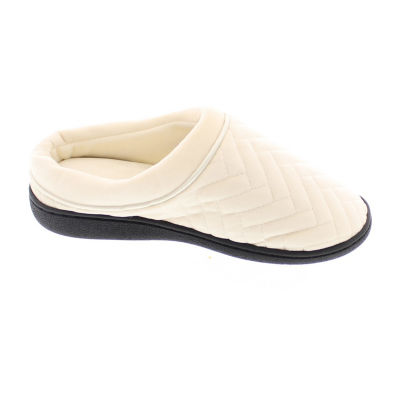 Gold Toe Chevron Velour Clog Slippers