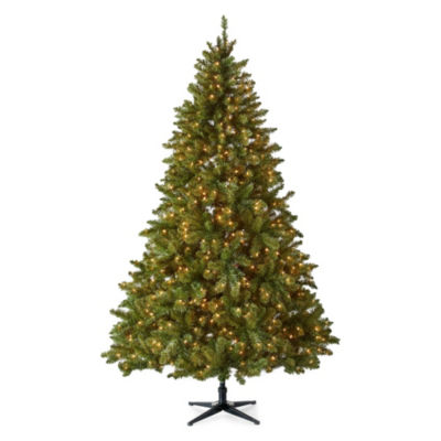 North Pole Trading Co. 7 1/2 Foot Albany Pre-Lit Christmas Tree
