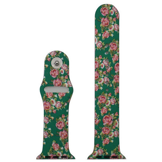Olivia Pratt Compatible With Apple Unisex Green Watch Band-8844floralgreen38