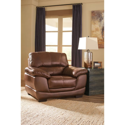 Signature Design By Ashley® Fontenot Leather Accent Chair