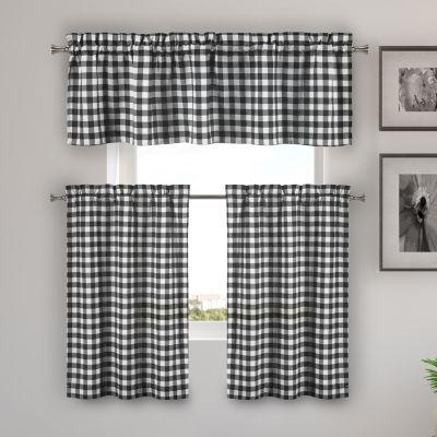 Duck River Kaiser 3-Piece Kitchen Curtain Set