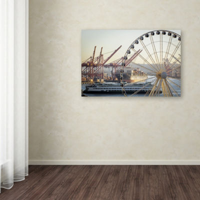 Trademark Fine Art Yale Gurney Seattle's IndustryGiclee Canvas Art