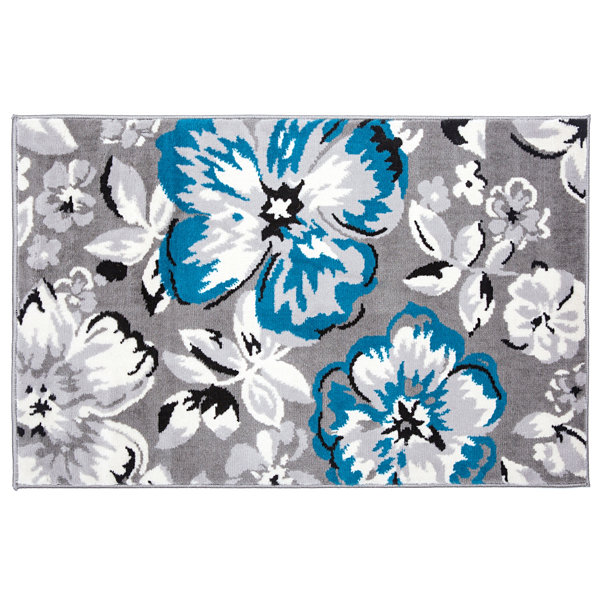World Rug Gallery Modern Floral Circles Area Rug