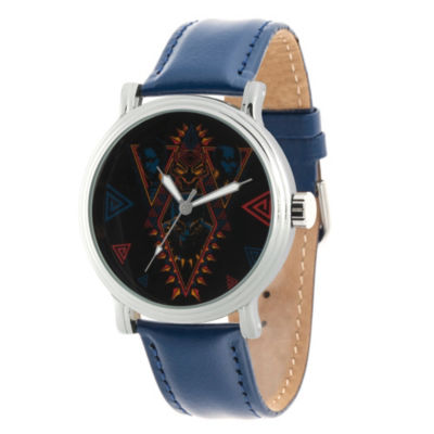 Black Panther Mens Blue Strap Watch-Wma000272