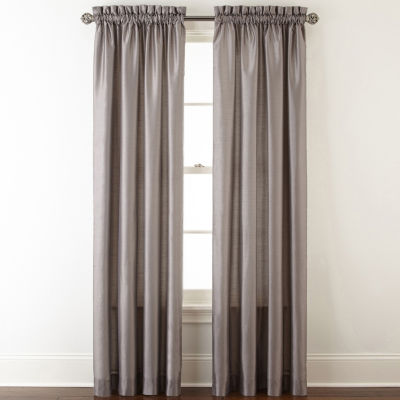 JCPenney Home Plaza Thermal Rod-Pocket Curtain Panel