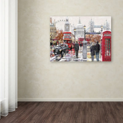 Trademark Fine Art The Macneil Studio London Collagex2 Copy Giclee Canvas Art