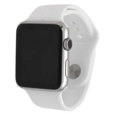 Olivia Pratt Compatible With Apple Watch Unisex White Watch Band-8812white42