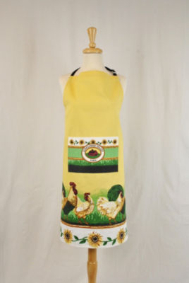 Chef Apron Rooster Print