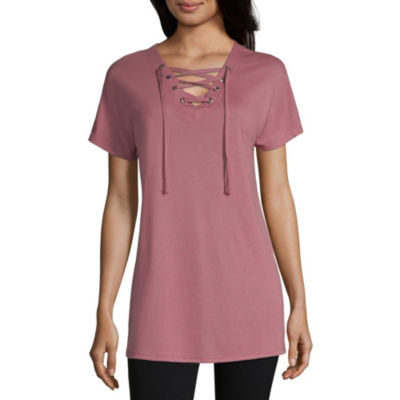 Xersion Studio Lace Up Tee - Tall